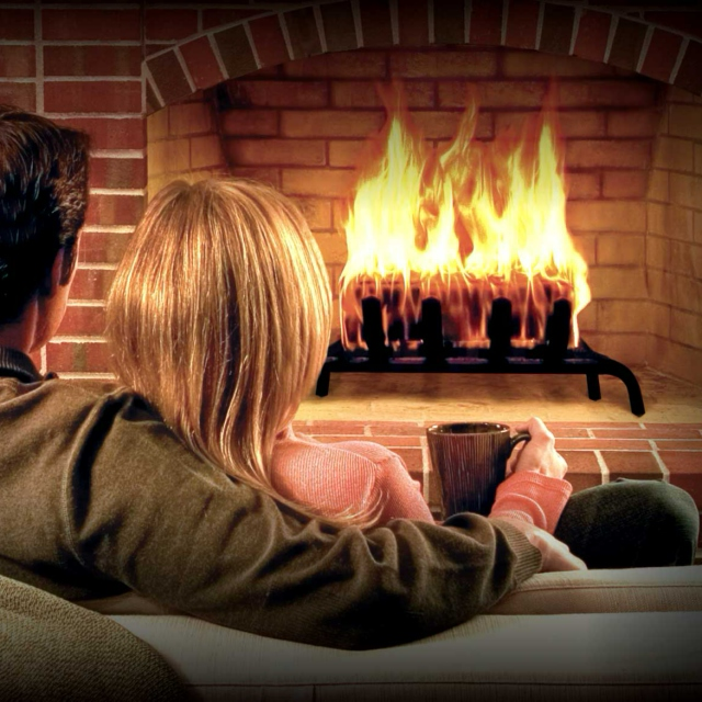 sitting by the fire with your love