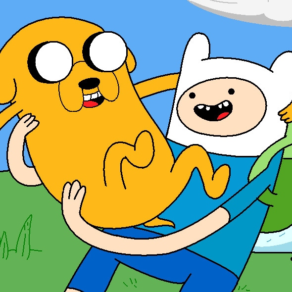 hanging out with finn and jake