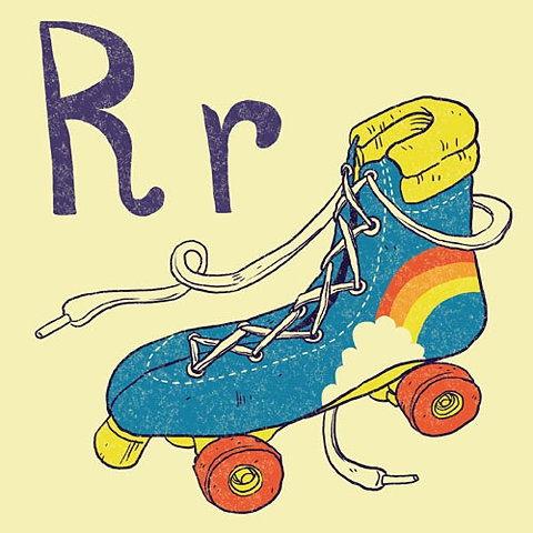 R is for Rollerskates!