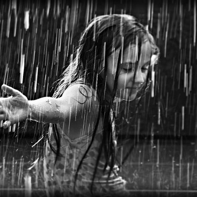 Capturing raindrops in the palm of your hand