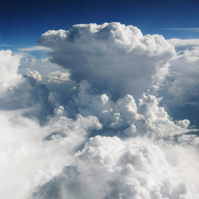Flying Slowly Over the Clouds