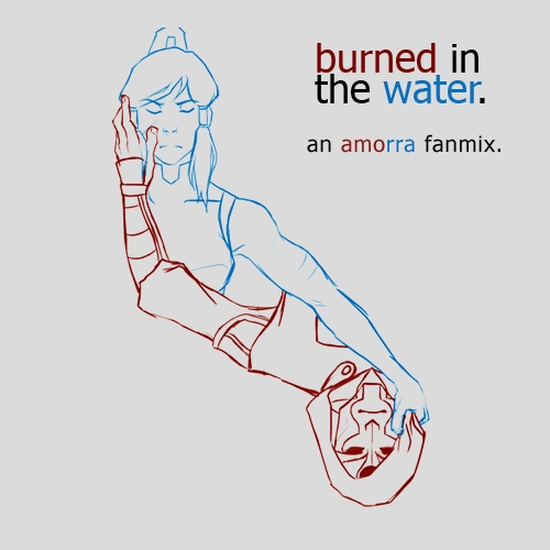 burned in the water.