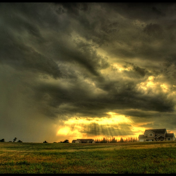 A Ray Of Sun Through The Storm