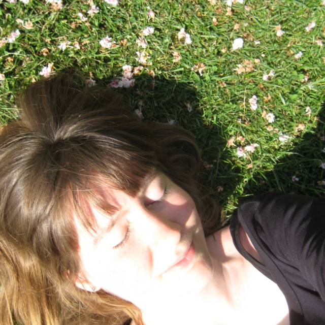 Laying amid Leaves of Grass
