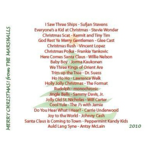 Marshall's Christmas CD 2010