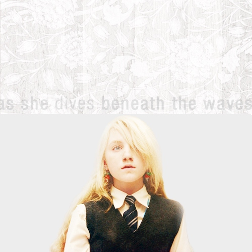 As She Dives Beneath the Waves: a Luna Lovegood fanmix