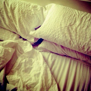 My bedsheets smell of you