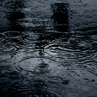 rain on roofs and rain on puddles