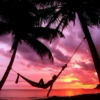 A hammock and a sunset