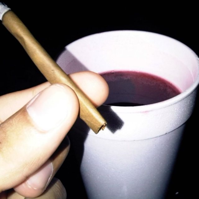 sippin' lean and smokin' weed