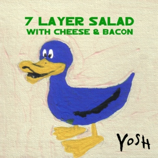 7 Layer Salad with Cheese & Bacon