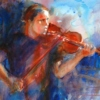 listening the fiddle