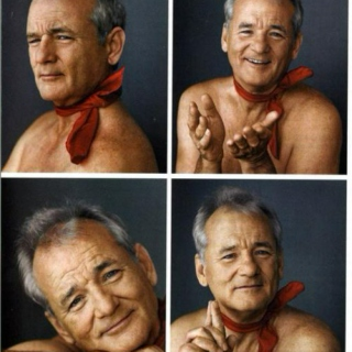 Naked Bill Murray And His Red Scarf