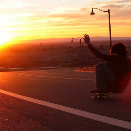 Take a longboard and find a hill, you'll know what to do...