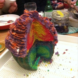 Psychedelic Cup Cake