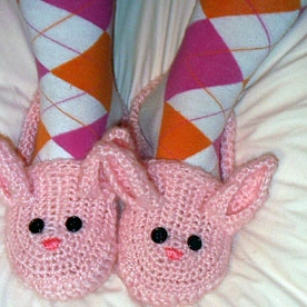 Btrxz's Woke up with puke on my bunny slippers. So I made a new pair, do you like them?