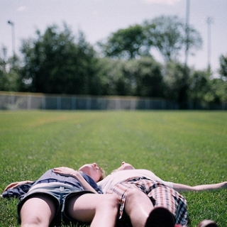 let's just lay on the grass all day.