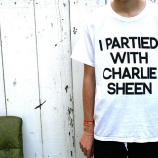 I partied with Charlie Sheen.