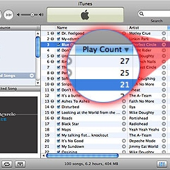 My top played songs as of 4-27-11. There is a pretty tight race for second raging.