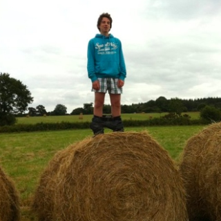 Party Rocking on a Hay Bale