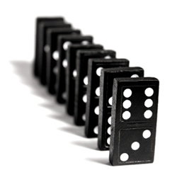 the domino effect.