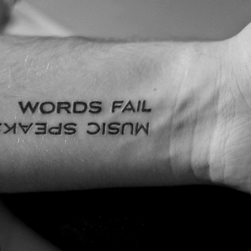 Words can be distracting.