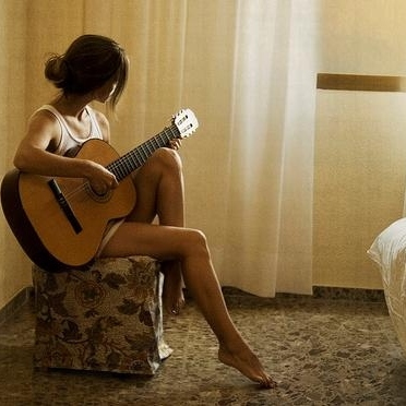 the girl & her guitar.