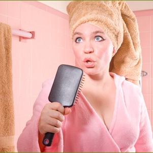 Singing into a Hairbrush