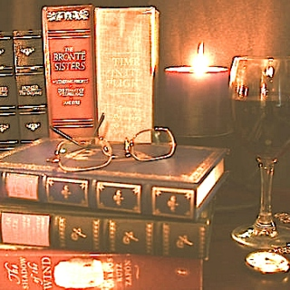 Studying with a glass of Shiraz
