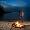 Kissing on a beach date