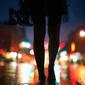 Walking at night with melow melodies..