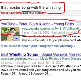 that hipster song with the whistling