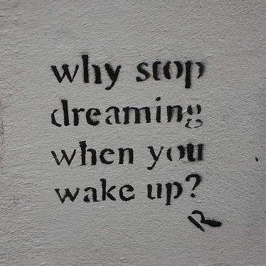 Why Stop Dreaming When You Wake Up ?