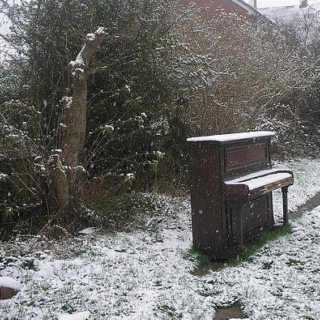 Pianos in the snow