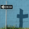 follow the Cross before the world behind It