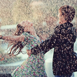Dancing With My Love; Under The Moonlit Sky, As Rain Pours Into Our Hearts...