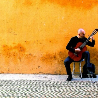 Classical guitar + Spanish/Middle Eastern vibe