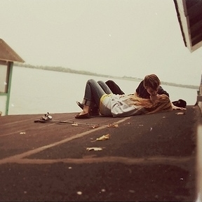 You and me lying on the rooftop