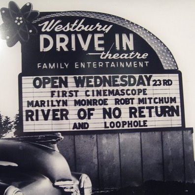 dancing at a drive-in theater