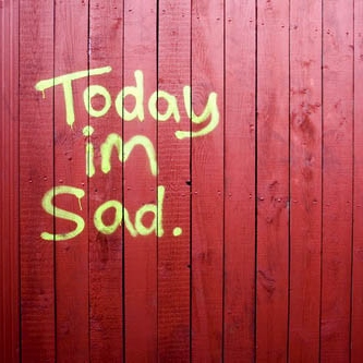 today i'm sad.