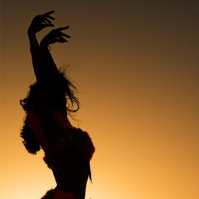 Dancing as the Sun Goes Down.