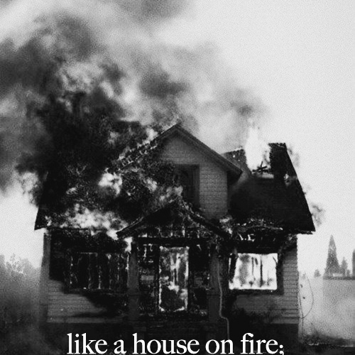 like a house on fire;