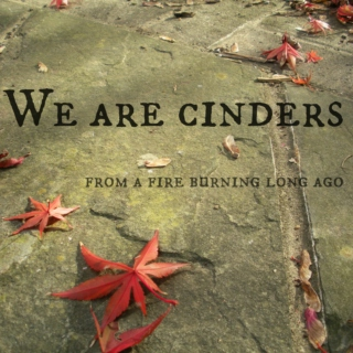 We are cinders, from a fire burning long ago