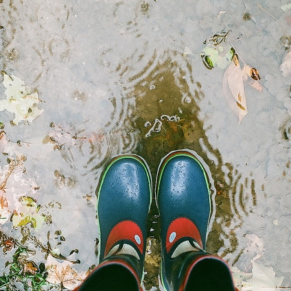 rain boots and coffee shops