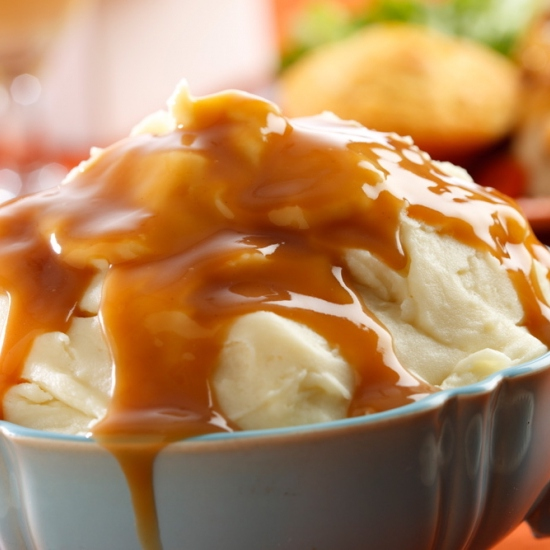 Mashed, Medled and Gravy on Top