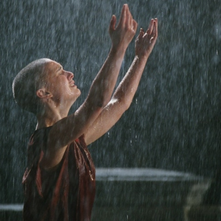 running in the pouring rain