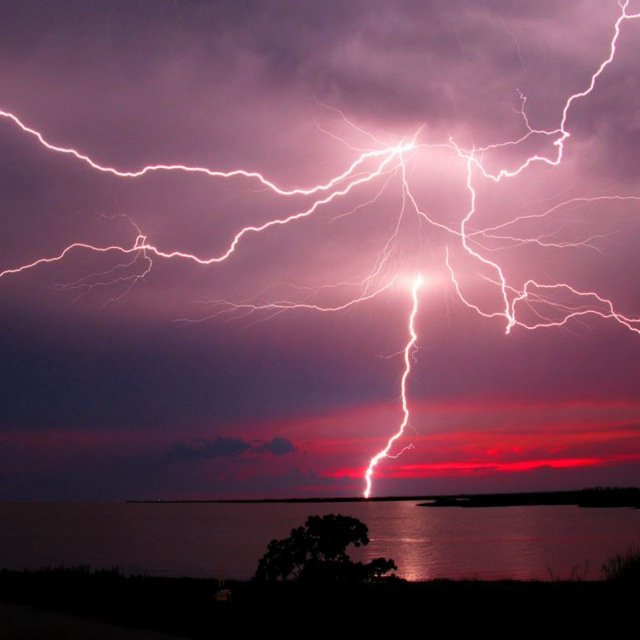 these days were lit by lightning