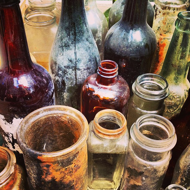 bottles from the bottom of lake george