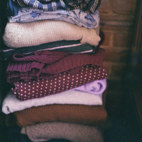Cuddle in your sweaters.