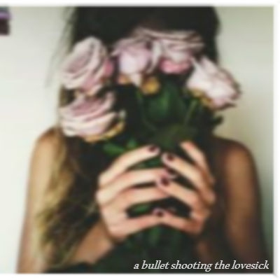 like a bullet, shooting the lovesick.